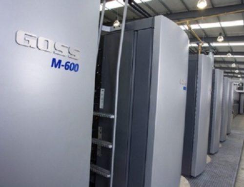 Installation d'une rotative Goss M-600 à l'Imprimerie du Centre